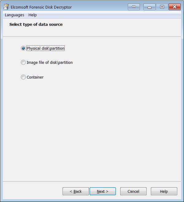 Decrypt or mount disk