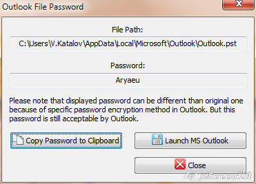outlook 2003 pst password recovery