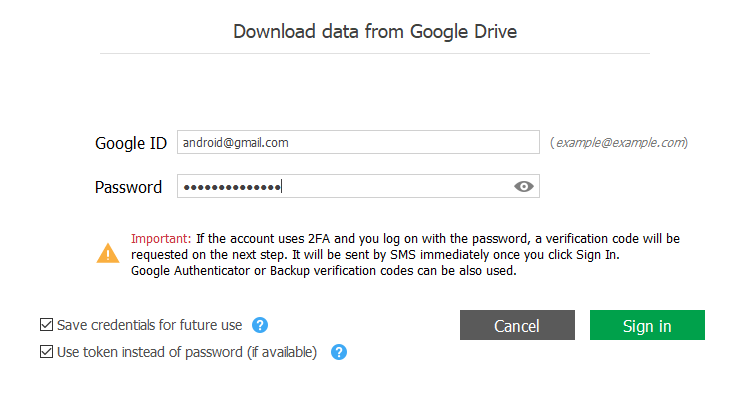 Working with data from Google Drive